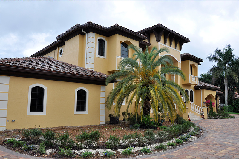 Yellow Florida Home